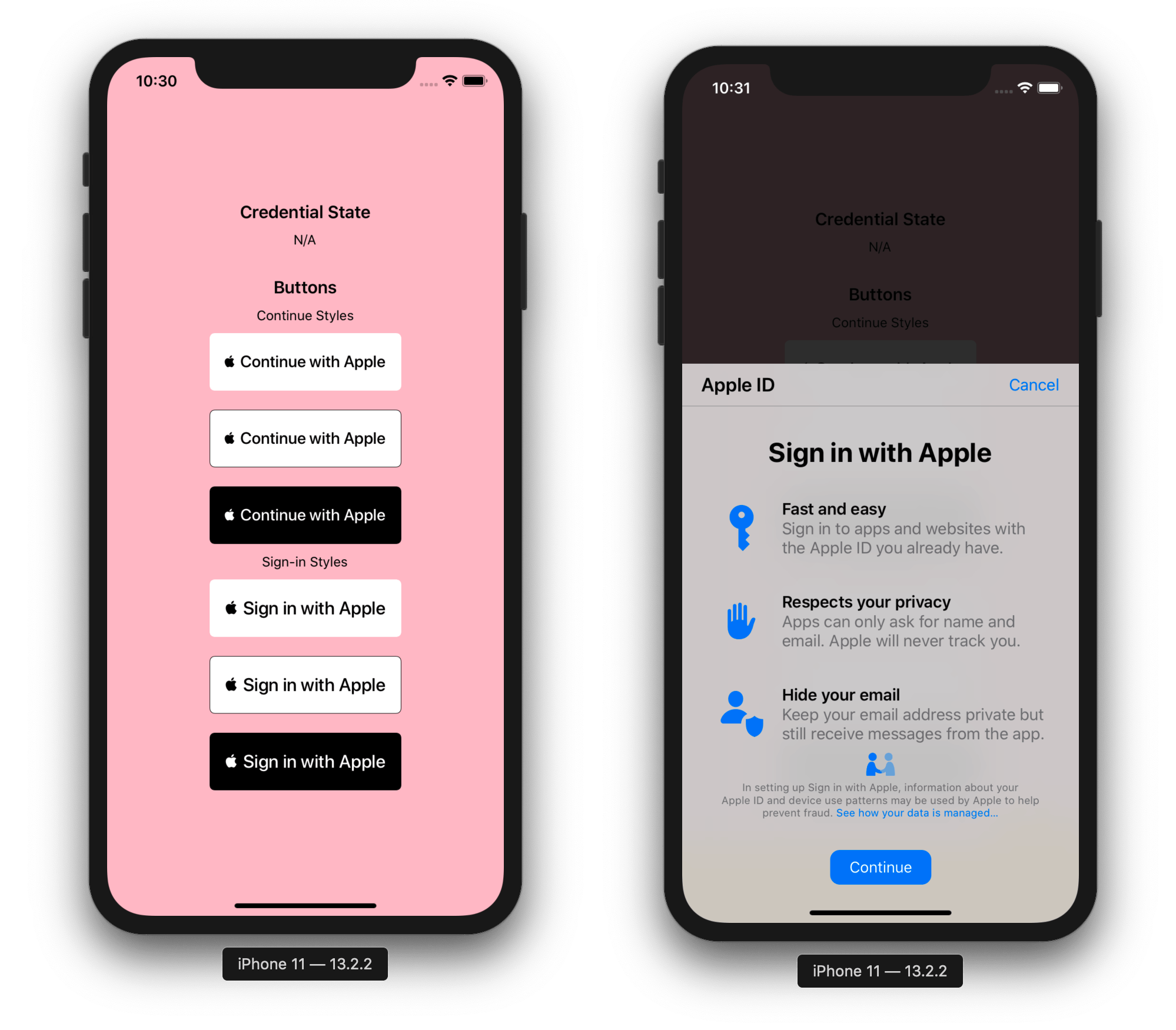 Apple Authentication library for React Native